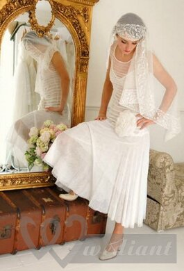 Wedding dresses in the style of 1930s #3