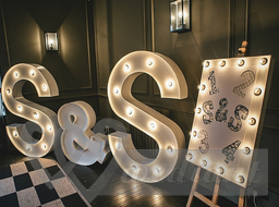 Wedding decorations in the style of 1930s #3