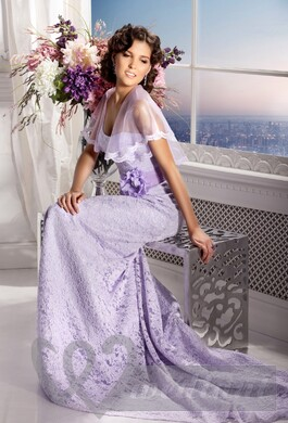 Lavender colored wedding dress #1