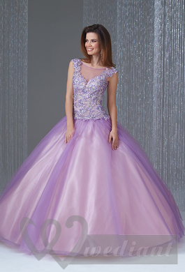 Lavender colored wedding dress #3