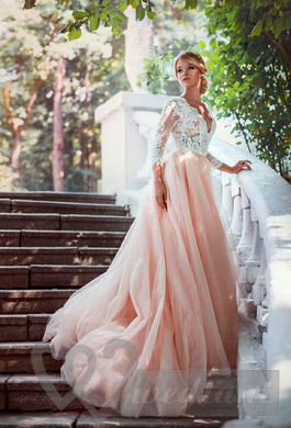 Pale-pink colored wedding dress #2
