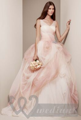 Pale-pink colored wedding dress #3