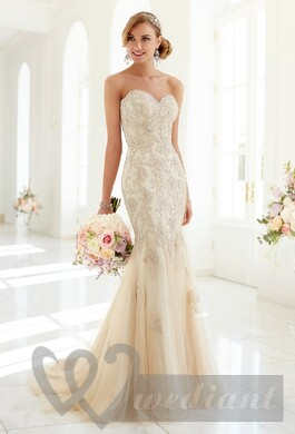 Champagne colored wedding dress #1