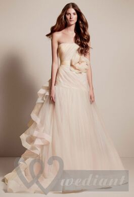 Champagne colored wedding dress #2