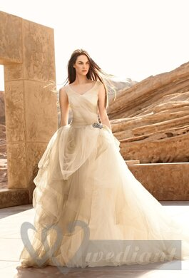 Champagne colored wedding dress #3