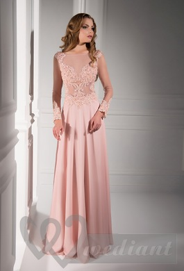 Tea rose colored wedding dress #2