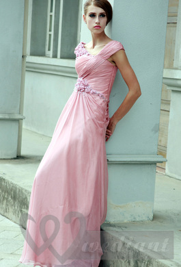 Tea rose colored wedding dress #3