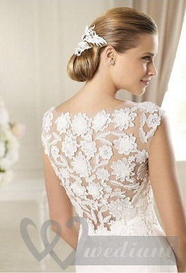 Lacy wedding dress #1