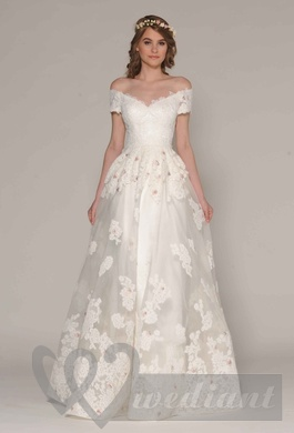 Wedding dress from guipure #5