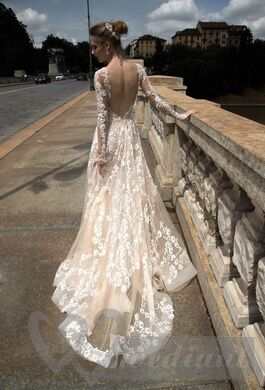 Wedding dress from guipure #6