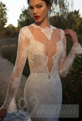 Wedding dress from guipure #4