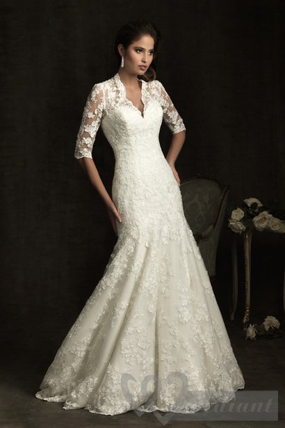 Lacy wedding dress #4
