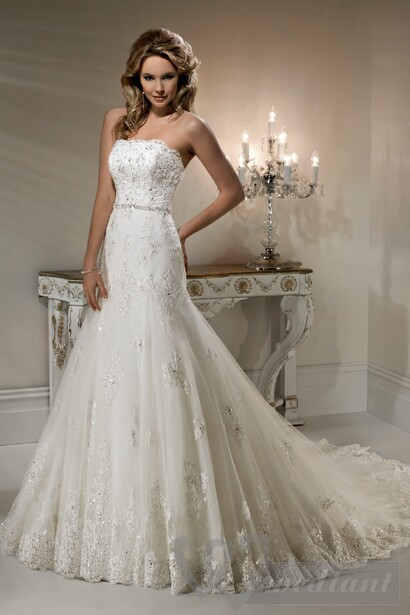 Lacy wedding dress #5