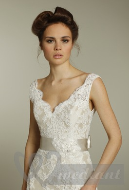Wedding dress from guipure #1