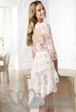 Wedding dress from guipure #7