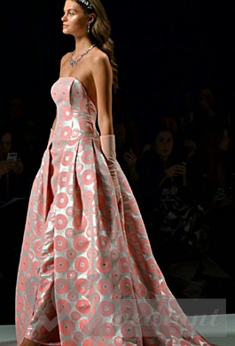 Modern flowery wedding dress from Ana Torres