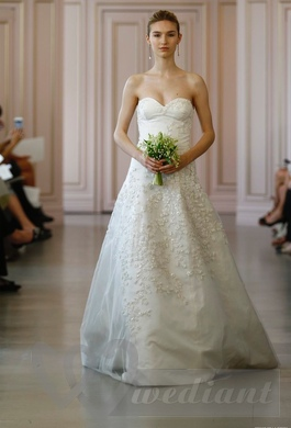 Wedding dress with beautiful tender patterns