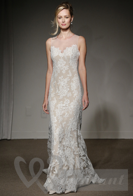Lacy wedding dress with tnder patterns from new collection
