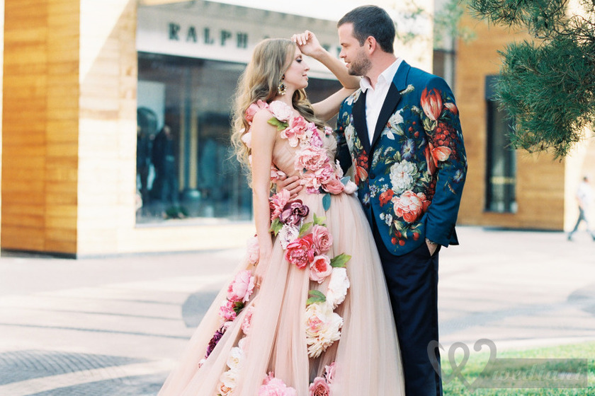 New Colorful Wedding Dresses Have Become a New Fashionable Trend