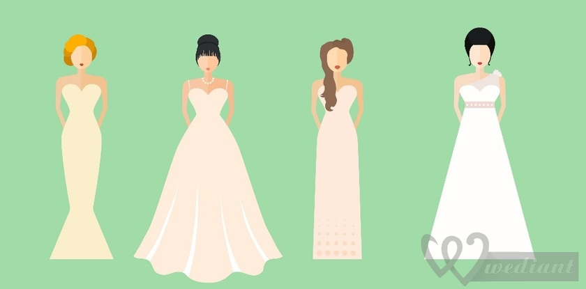 How to Choose the Ideal Cut of the Wedding Dress According to the Figure Type?