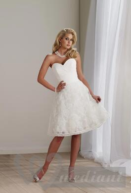 Short bridal dress (skirt reaches knees)