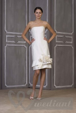 Short wedding dress with beautiful decoration