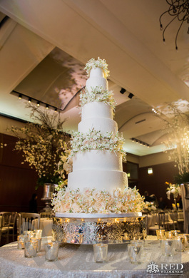 A luxury wedding cake on the Scotish exhibition