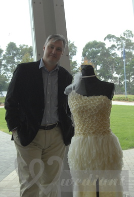 Wedding dress made from condoms