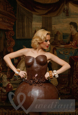 Chocolate wedding dress