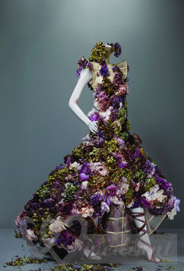 Bridal dress, made from flowers