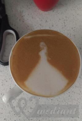 A coffee stylished for a bride