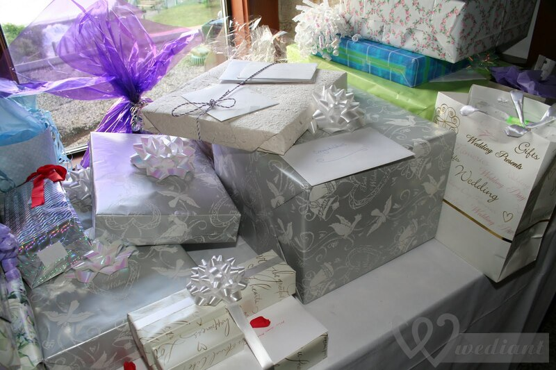 Presents to a bride and groom