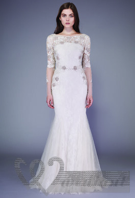 Lacy autumn wedding dress