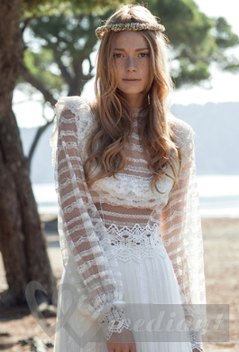 Lacy bridal dress
