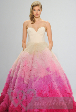Wedding dress with rose skirt