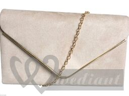 Bridal handbag with golden chain