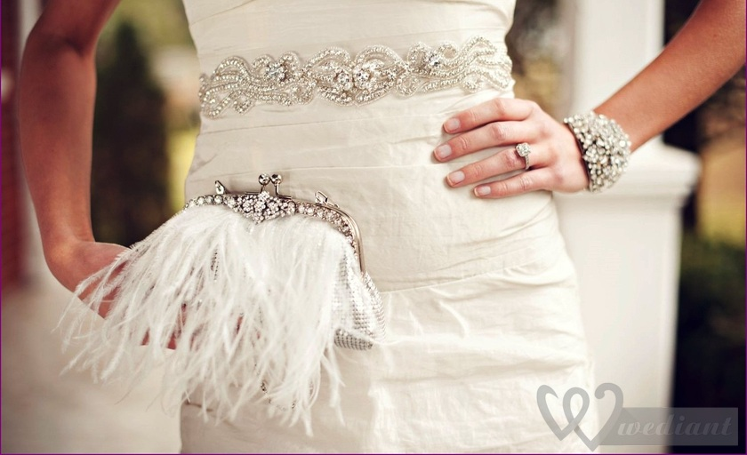 Woman's handbag is one of the brightest wedding accessories of each bride