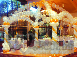 Using of ballons for decoration