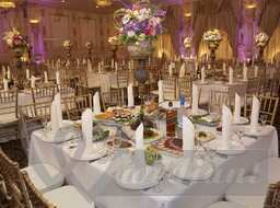 Rich decoration of wedding banquet