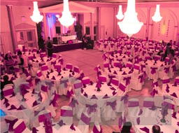 Colorful deciration of wedding hall