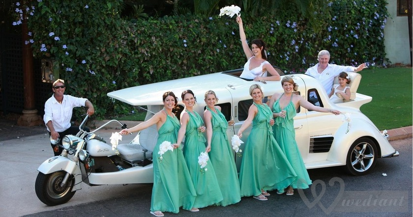 Several unusual kinds of transport, which can be used instead of common wedding cars