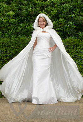 An elegant warmed bridal dress