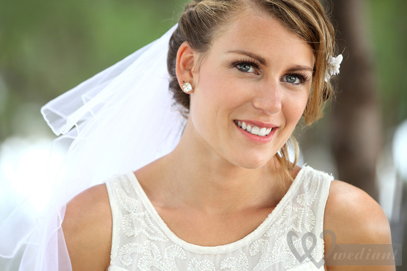 Charming smile of bride