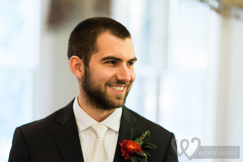 Attractive smile of a groom