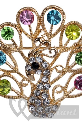 Charming colorful wedding brooch
